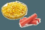 салат с крабом и кукурузой