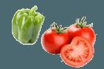 салат с помидорами, перцем и сыром