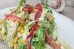 салат с брокколи и перцем