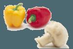 салат с грибами и перцем