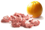 баранина в апельсине