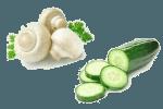 Салат с шампиньонами и огурцом