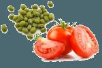 Салат с зеленым горошком и яйцом