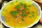 суп с мясом и горохом