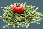 стручковая фасоль с помидорами