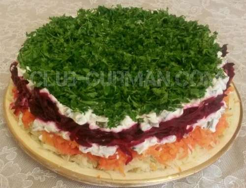 овощной салат с соусом